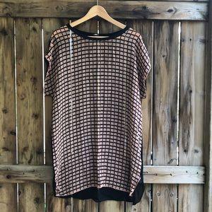 ARITZIA WILFRED checkered 100% silk shirt blouse S
